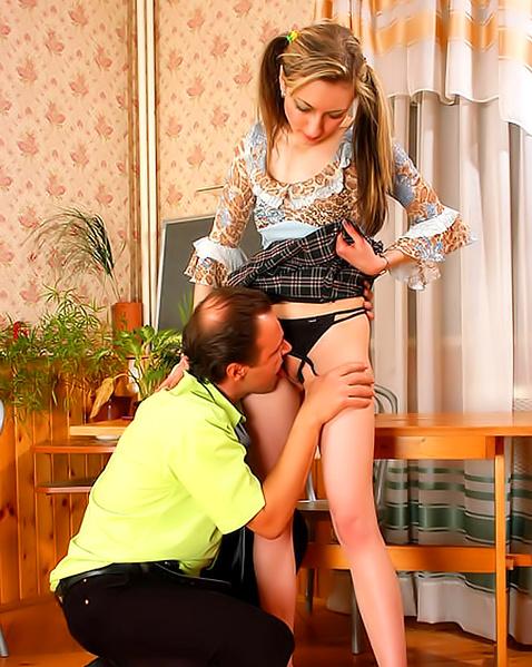 Старик любит куни и секс мягких вагин молодых девочек за деньги