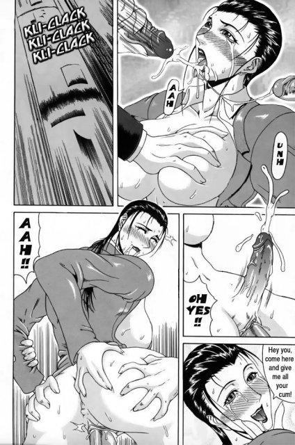 Сексуальная девица в футанари делает минет