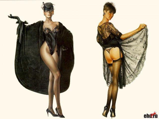 Зрелые дамочки в сексуальной одежде в фэнтези позируют